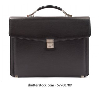 Business briefcase isolated. Front view