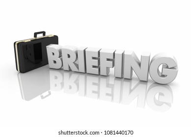 Business Briefing Briefcase Meeting Word 3d Illustration