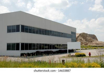business building with billboard