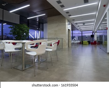 Business building cafe interior