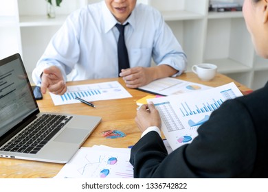 business businessman in meeting analyses chart graphy marketing plan in business financial  audit project. Or Business adviser analyzing