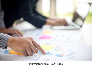business businessman in meeting analyses chart graphy marketing plan in business project