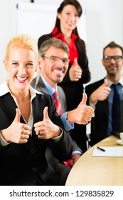 Business - businesspeople have team meeting or workshop in an office, it is a very good team