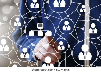 Business button network cooperation online