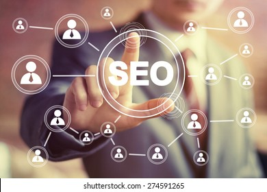 Business button SEO communication icon web sign.