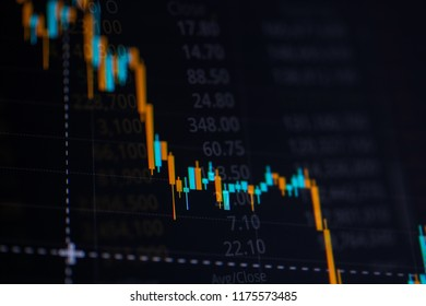 Business candle stick graph chart of stock market investment trading. Financial chart with up trend line graph, Trend of graph.Stock markets financial or Investment strategy background.