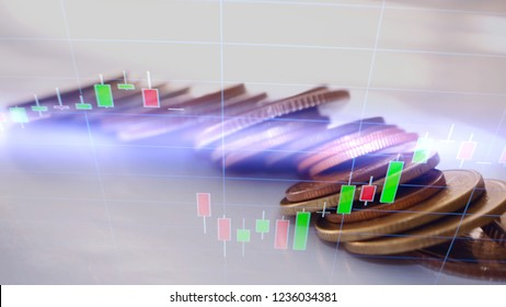 Business candlestick graph chart of stock market investment trading, abstrack finance background, financial graph, business