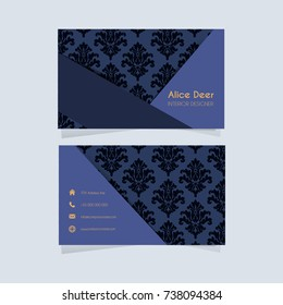 Business Card with Elegant Pattern