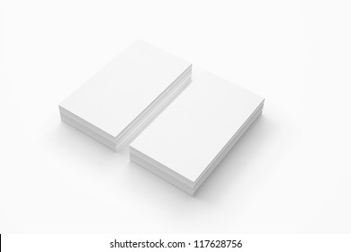 Business card isolated on white