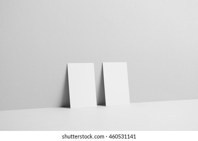 Business Card Mock-Up (85x55) - Wall Background