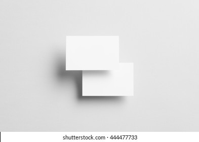 Business Card Mock-Up (85x55mm) - Two Floating Overlapping Cards
