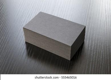 Business card on desk