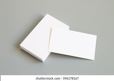Business card on desk