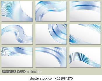 business card set, elements for design.