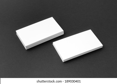Business card template for branding identity with blank modern devices. Isolated on gray paper background.