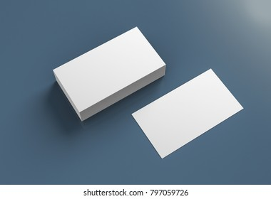 Business cards blank mockup - template. 3d rendering