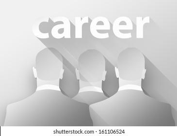 Business career, 3d illustration flat design