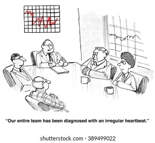 Business cartoon about stress.