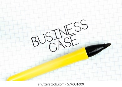 BUSINESS CASE concept write text on notebook