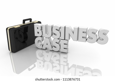 Business Case Study Model Example Briefcase 3d Render Illustration