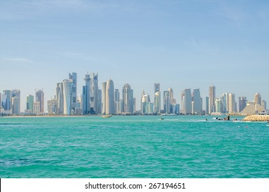 The business center of Doha, Qatar