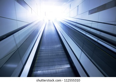 Business Center escalators
