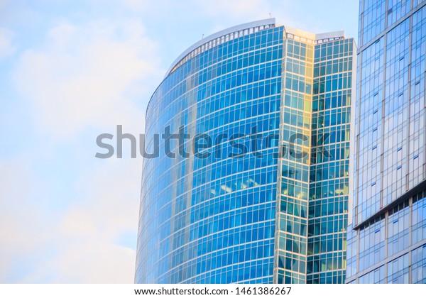 Business Center High Houses Windows Multistory Stock Image ...