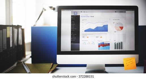 Business Chart Graph Growth Success Target Data Concept