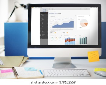 Business Chart Visual Graphics Report Concept