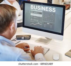 Business Chart Work Analysis Concept