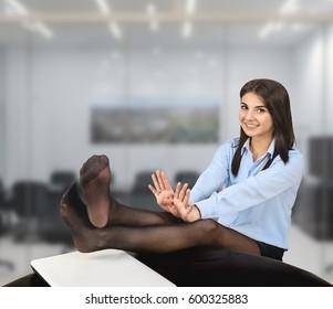 Office pantyhose