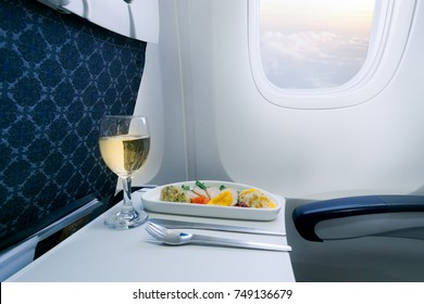Business class meal on board