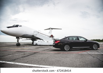 Business class service at the airport. Business class transfer. Airport shuttle