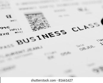Business class ticket