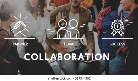 Business Collaboration Teamwork Corporation Concept