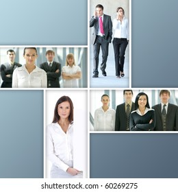 Business collage made of four nice pictures