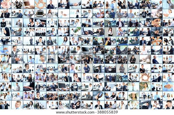 Unternehmenskollektion aus vielen Geschäftsbildern