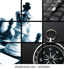 business collage showing concept of finance and success