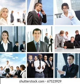 Business collage of some different images