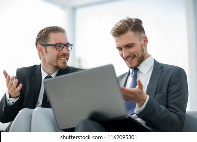 business colleagues discussing new information