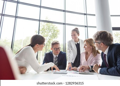 Business colleagues planning during meeting at office