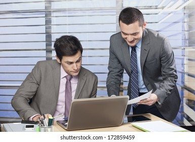 Business colleagues working together in the office