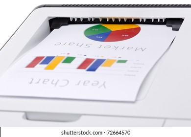 Business color chart printed on laser printer