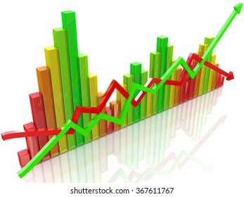 business colorful chart in the design of information related to business and economy