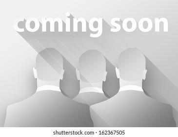 Business coming soon, 3d illustration flat design