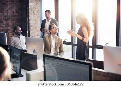 Business Communication Connection Working Concept