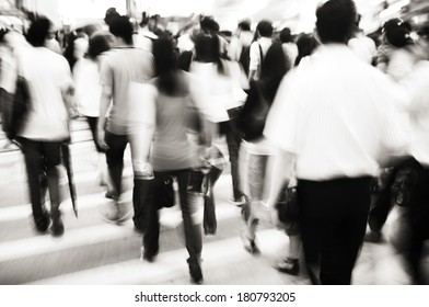 Business Commuters in Hong Kong
