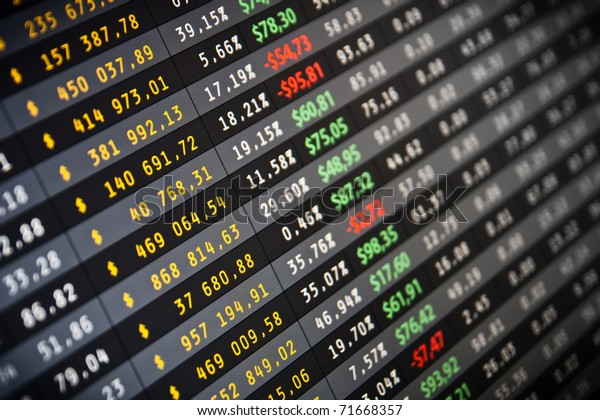 Business company financial balance Stock Quotes at real time at the stock exchange