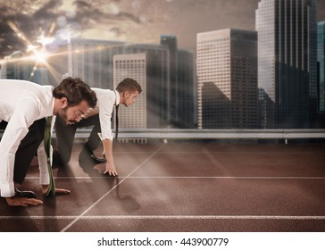 Business competition - Shutterstock ID 443900779