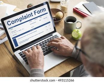 Business Complaint Form Searching Concept